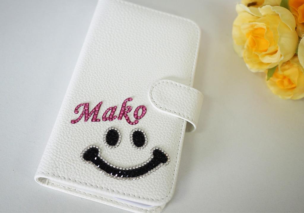 ニコちゃんの手帳型スマホケース